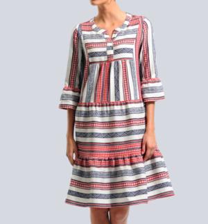 jurk flatteert met een dikke buik